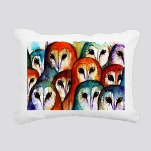 Owl Audience Rectangular Canvas Pillow